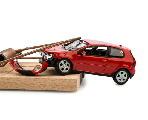 a model car in a mousetrap, symbolic photo for car expenses and debts